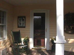 Entrance, Jesse Mustain House
